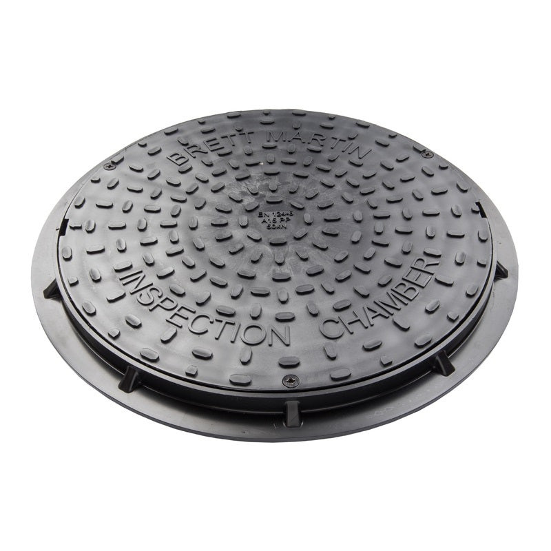 Inspection Chamber Cover + Frame Round (Use with 110 + 160mm Base)
