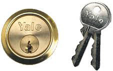 Yale Replacement Nightlatch Cylinder P1109 Brass