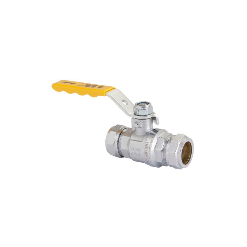 "1"" Compression Lever Gas Valve Cxc (Yellow)"