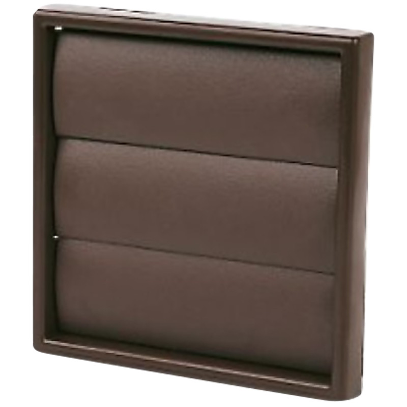 Wall Vent Square with Flap 100mm Brown