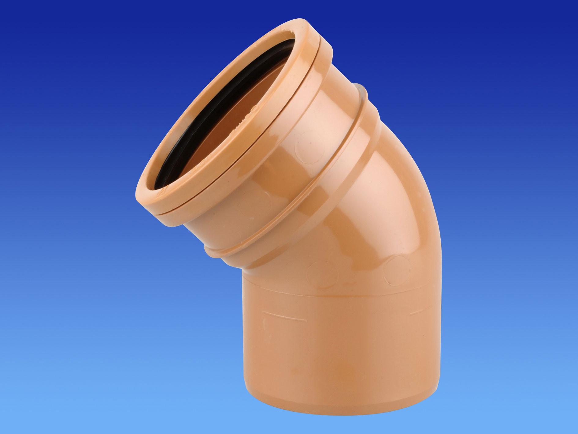 Sewer Bend 45 Degree Single Socket 160mm