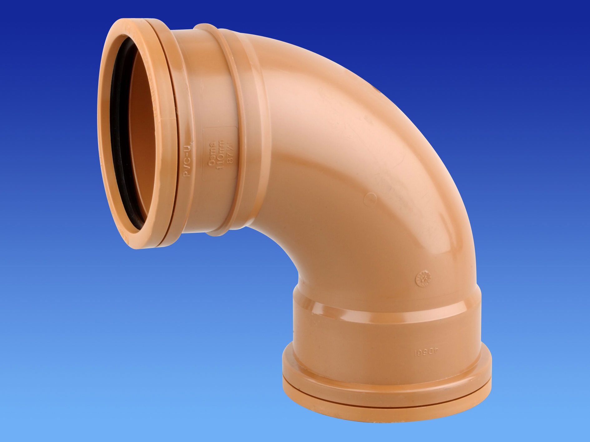 Sewer Bend 90 Degree Double Socket 160mm