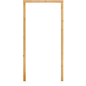 150 x 50mm Red Deal Door Frame Rebated Pks - rebated for 10mm Intum Strip  (1/2 Hr Fire) (2/2.1 1/0.9)