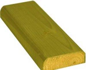 100 x 35mm x 3.6m D-Rail Treated (Green)
