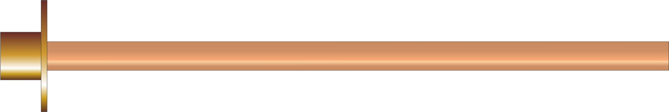 1/2 Tap Mounting Plate c/w Copper Tube 350mm