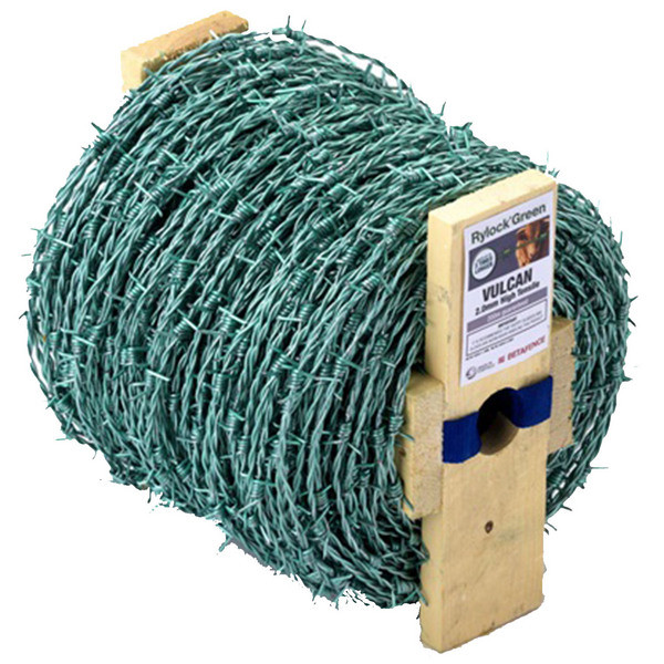 Barbed Wire Green Full Galvanised Roll 200Mtrs