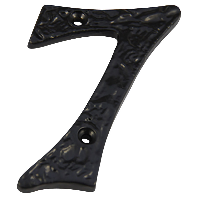 Numeral 7 Screw Fix 100mm Black Antique