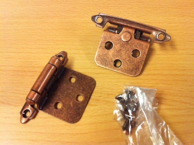 Snap Hinge Copper (pair)
