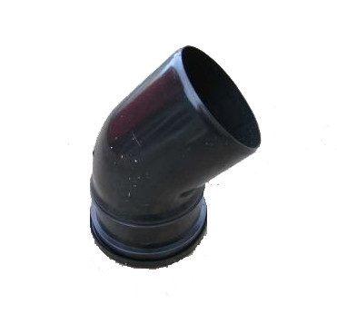 110mm Black Soil Single Socket 45 Degree Bend