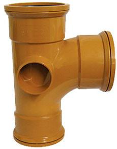 Sewer T 90 Degree Triple Socket 160x110mm
