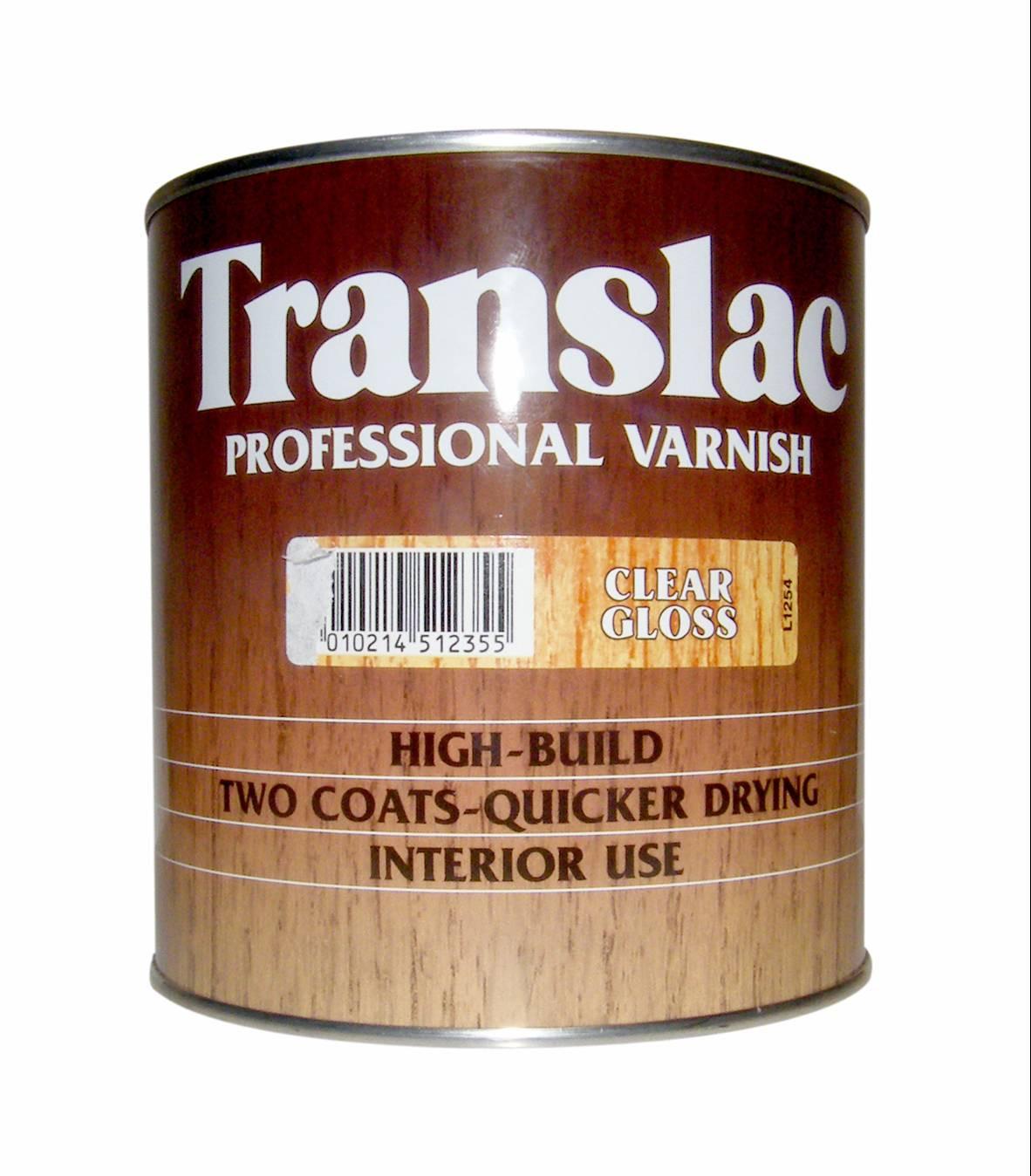 Translac Professional Varnish 2.5L Clear Eggshell