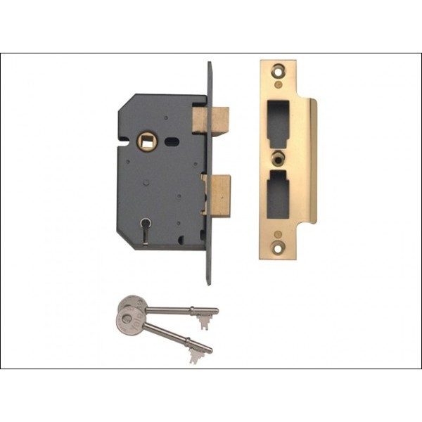 Yale Mortice Lock PM246 63mm Brass