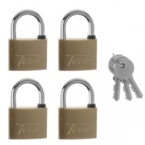 Tessi 4 x Solid Brass Padlock KA 40mm