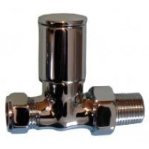 Chrome Angled Radiator Valves 15mm