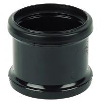 110mm Black Soil Double Socket Repair Coupler