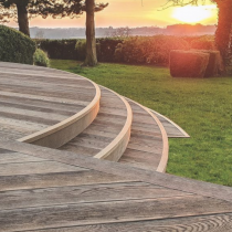 Millboard Decking Enhanced Grain Antique Oak  176mm x 3600mm x 32mm