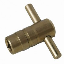 Brass Clock Type Vent Key