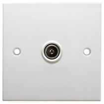 1 Gang Flush Co-Ax / TV Socket
