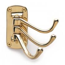 Triple Hat & Coat Hook Brass