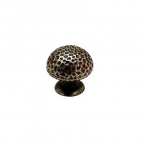Cabinet Knob Hammered Pewter