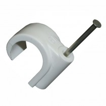 Nail On Pipe Clip 22mm PVC
