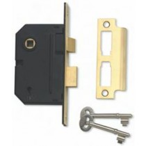 Mortice Lock 2 Lever 63mm Nickel