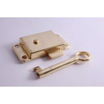 Wardrobe Lock 65mm Brass