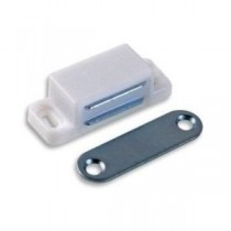 Magnetic Catch Small White (Pair)