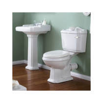 Legend Bathroom Suite c/w Taps, Waste/ Basin/Pedestal/Pan/Seat/Cistern/Lever