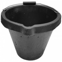 Black Rubber Bucket 12Litre