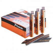 Paslode Nail Fuel Pack Straight Bright 90mm 3.1mm (2200 Nails + 2 Fuel Cells)