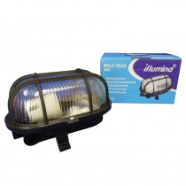 Oval Bulkhead Black 60W cw Guard