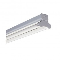 Twin 5ft Fluorescent Light Fitting & Cover