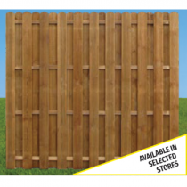 Double Sided Hit & Miss Fence Panel 1800 x 1800mm