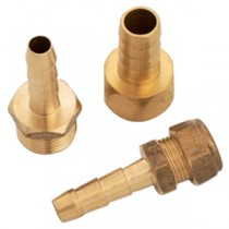 """3/8"""" Gas Nozzle c/w 10mm Nut + Ring"""