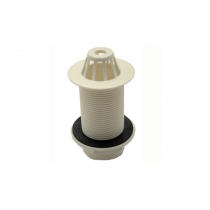 "1 1/4"" White Plastic Dome Urinal Waste"