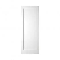 White Primed Shaker Door 1 Panel 78x30