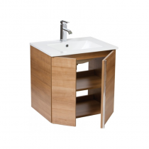 Avila 60 Wall Hung Walnut Vanity Unit, Poole Basin