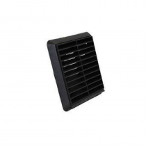 Wall Vent Square Louvre With Fly Screen 100mm - Black (160x160mm)