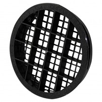 Soffit Vent Twist & Lock Black Round 70mm