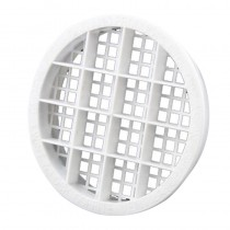 Soffit Vent Twist & Lock White Round 70mm