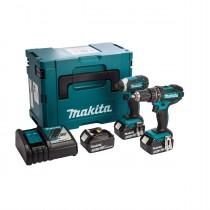 Makita DLX2131JX1 18V 2Piece Kit DHP482 DTD152 (c/w 2 x 3.0ah Lithium Batteries)