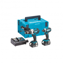MAKITA DLX2145TJ 18V LXT CORDLESS COMBI DRILL & IMPACT DRIVER TWIN PACK c/w 2 x 5.0ah Batteries