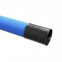 Twinwall Cable Ducting Blue (450n) 110/95mmmm x6Mtr incl Coupler