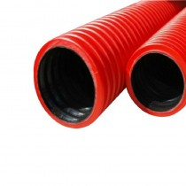 Twinwall Cable Ducting Red (450n) 110/95mm x6Mtr inc Coupler