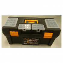 "Tool Box 23""  (W)580 x (D) 280 x (H) 250mm (4 Orgainizers on the Cover+ Tray inside)"