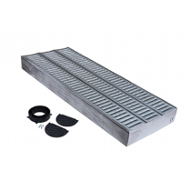 Drainage Channel Garage Pack 3Mtr C/w Galv Grating (Pack 3x1m Channel 1x Bottom Outlet 2x End Cap)