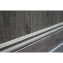 New York Grey Oak Skirting 120mmx15mm x 2.4M