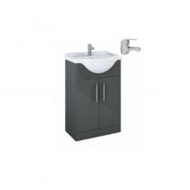 Belmont Gloss Grey 550mm Vanity Unit C/W Alpha Mixer