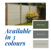 Kilally SmartFence Panel Pack   Olive Green   1.8x1.5M (6x5ft)